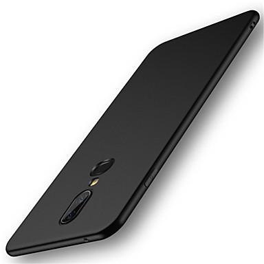 غطاء من أجل OnePlus OnePlus 6 / One Plus 5 / OnePlus 5T مثلج غطاء خلفي لون سادة قاسي الكمبيوتر الشخصي
