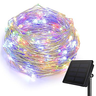 KWB 10m أضواء سلسلة 100 المصابيح 1 مجموعة تركيب قوس أبيض دافئ / أبيض / أزرق ضد الماء / الطاقة الشمسية / إبداعي مدعوم بالطاقة الشمسية 1SET