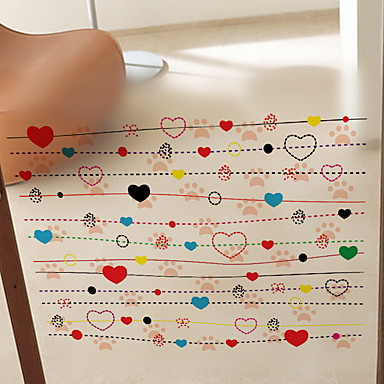 لواصق حائط مزخرفة - لواصق حائط الطائرة قلوب دورة المياه / غرفة الأطفال / قابل للنقل