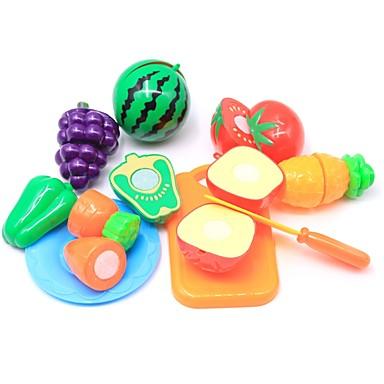 مجموعات لعبة مطبخ لعب تمثيلي لعب المطبخ مأكولات فاكهة التفاعل بين الوالدين والطفل قذيفة البلاستيك للأطفال مرحلة ما قبل المدرسة للصبيان للفتيات ألعاب هدية 10 pcs