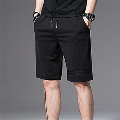 رجالي أساسي مناسب للبس اليومي تشينوز / شورتات بنطلون - لون سادة أسود XXXL XXXXL 5XL