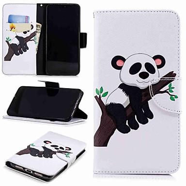 غطاء من أجل Huawei Huawei P20 / Huawei P20 Pro / Huawei P20 lite حامل البطاقات / مع حامل / قلب غطاء كامل للجسم باندا قاسي جلد PU / P10 Lite