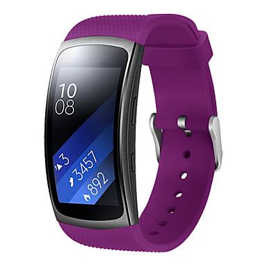 Недорогие Часы для Samsung-Ремешок для часов для Gear Fit 2 Samsung Galaxy Современная застежка силиконовый Повязка на запястье