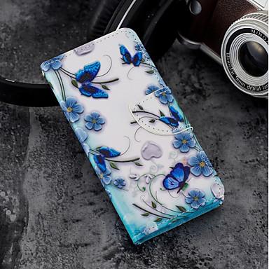 Недорогие Кейсы для iPhone 6-Кейс для Назначение Apple iPhone X / iPhone 8 Pluss / iPhone 8 Кошелек / Бумажник для карт / со стендом Чехол Бабочка Твердый Кожа PU