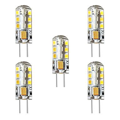 BRELONG® 5pcs 3 W LED Λάμπες Καλαμπόκι LED Φώτα με 2 pin 250 lm G4 T 24 LED χάντρες SMD 2835 Διακοσμητικό Θερμό Λευκό Άσπρο 12 V