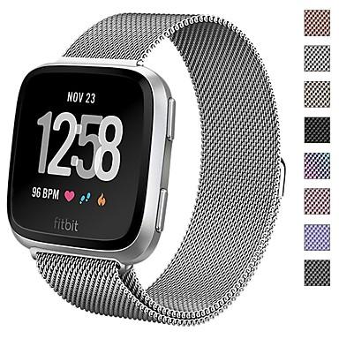 رخيصةأون أساور ساعات هواتف أبل-حزام إلى Fitbit Versa فيتبيت عصابة الرياضة / عقدة ميلانزية معدن شريط المعصم