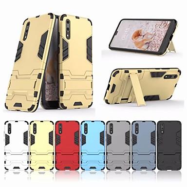 غطاء من أجل Huawei Huawei P20 / Huawei P20 Pro / Huawei P20 lite مع حامل غطاء خلفي درع قاسي الكمبيوتر الشخصي / P10 Plus / P10 Lite / P10