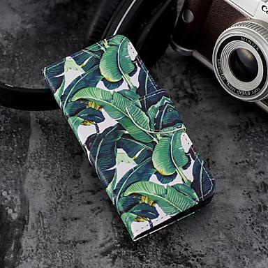 غطاء من أجل Samsung Galaxy A5(2018) / Galaxy A7(2018) / A3 (2017) محفظة / حامل البطاقات / مع حامل غطاء كامل للجسم شجرة قاسي جلد PU
