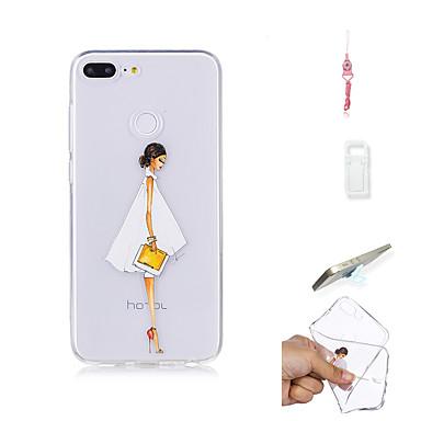 غطاء من أجل Huawei Huawei Honor 9 Lite شفاف غطاء خلفي امرآة مثيرة ناعم TPU