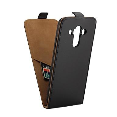 غطاء من أجل Huawei Mate 10 pro حامل البطاقات / قلب غطاء كامل للجسم لون سادة قاسي جلد PU