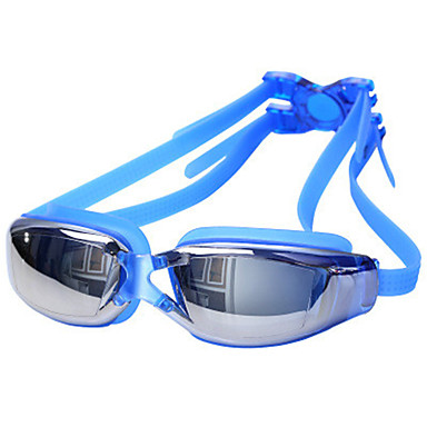 billige Svømmebriller-svømmebriller Vandtæt Anti-Tåge Anti-UV Støv-sikker Recept Spejlet Alloy Belægning PC Hvid Rød Grå