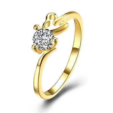 نسائي عصابة الفرقة الماس مكعب زركونيا 1PC ذهبي أبيض مطلية بالذهب Geometric Shape سيدات موضة هدية مناسب للبس اليومي مجوهرات متصنع