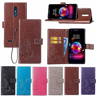 Недорогие Чехлы и кейсы для LG-Кейс для Назначение LG LG V30+ / LG V20 / LG K10 2018 Кошелек / Бумажник для карт / со стендом Чехол Мандала / Бабочка Твердый Кожа PU