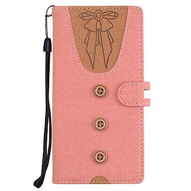 Недорогие Чехлы и кейсы для Sony-Кейс для Назначение Sony Xperia XZ2 / Xperia XA2 / Sony Xperia XZ1 Кошелек / Бумажник для карт / со стендом Чехол Соблазнительная девушка Твердый Кожа PU