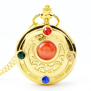 رخيصةأون ساعات النساء-نسائي ساعة جيب كوارتز ستانلس ستيل ذهبي جميل تناظري-رقمي كرتون - ذهبي