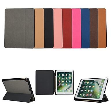 غطاء من أجل Apple iPad Air / iPad (2018) / iPad Pro 10.5 مع حامل / قلب غطاء كامل للجسم لون سادة قاسي منسوجات