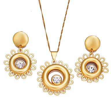 نسائي أقراط طارة قلائد الحلي فراغ خارجي سيدات بوهيميان موضة الأقراط مجوهرات ذهبي من أجل مناسب للحفلات هدية