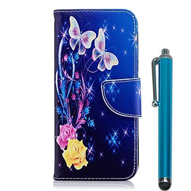 غطاء من أجل Huawei Honor 10 / Huawei Honor 7A محفظة / حامل البطاقات / مع حامل غطاء كامل للجسم فراشة قاسي جلد PU إلى Huawei Honor 10 / Honor 7X / Huawei Honor 7A