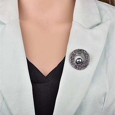 نسائي دبابيس 3D وردة سيدات عتيق أوروبي لؤلؤ تقليدي بروش مجوهرات أسود من أجل حفلة ليلية المكتب & الوظيفة