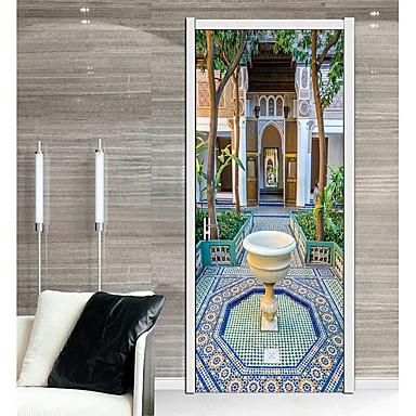 لواصق حائط مزخرفة / ملصقات الباب - لواصق حائط الطائرة / عطلة ملصقات الحائط ديني / 3D غرفة الجلوس / غرفة النوم