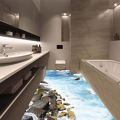 お買い得  インテリア-風景 ウォールステッカー 3D ウォールステッカー 飾りウォールステッカー, ビニール ホームデコレーション ウォールステッカー・壁用シール 壁 / 床 装飾 1個 / 再利用可