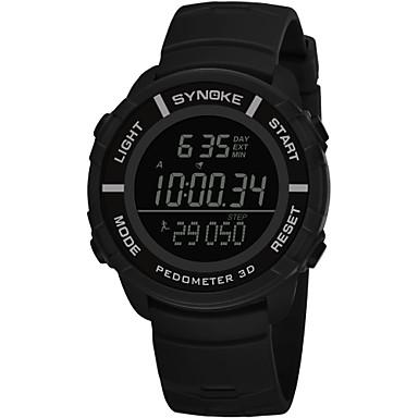 SYNOKE رجالي ساعة رياضية ساعة رقمية رقمي جلد اصطناعي أسود / رمادي / أزرق داكن 50 m مقاوم للماء رزنامه الكرونوغراف رقمي موضة - أزرق داكن رمادي أخضر / ساعة التوقف / قضية