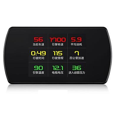 Недорогие Приборы для проекции на лобовое стекло-P12 3 дюймовый ЖК-дисплей Проводное Дисплей заголовка Ночное видение / Многофункциональный дисплей / Сигнал высокой температуры для Автомобиль