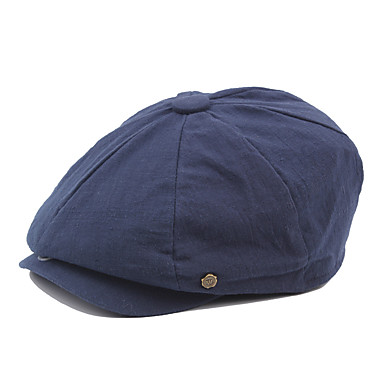 الخريف الشتاء برتقالي أزرق البحرية رمادي قبعة قلنسوة لون سادة رجالي قطن بوليستر,عتيق عمل