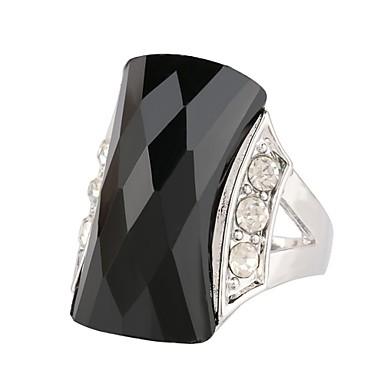 olcso Vallomás gyűrűk-Női Nyilatkozat gyűrű Gyűrű Onyx 1db Fekete Zöld Műanyagok Rozsdamentes Ötvözet Kör Szabálytalan hölgyek Stílusos Arisztokratikus lolita Ünnepség Születésnap Ékszerek Üreg Értékes Remény Menő