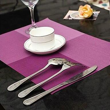 Moderne PVC Quadratisch Platztdeckchen Mit Mustern nicht-haftend Anti-tragen Splitterschutz Tischdekorationen 1 pcs