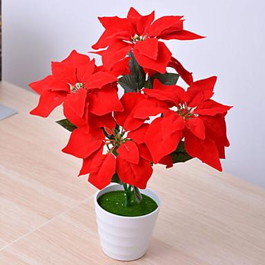 زهور اصطناعية 1 فرع كلاسيكي أنيق نباتات أزهار الطاولة