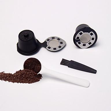 بلاستيك / ستانلس ستيل المطبخ الإبداعية أداة 2pcs قهوة مرشحة