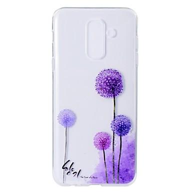 hoesje Voor Samsung Galaxy A5(2018) / A6 (2018) / A6+ (2018) Patroon Achterkant Paardebloem Zacht TPU