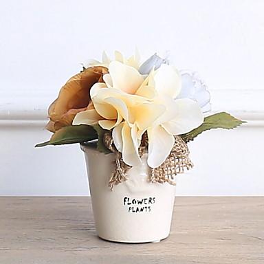 زهور اصطناعية 1 فرع كلاسيكي الحديث المعاصر أسلوب بسيط الفاوانيا أزهار الطاولة