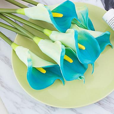 زهور اصطناعية 1 فرع كلاسيكي التقليدية / الكلاسيكية زبنق لالا أزهار الأرض