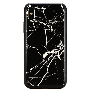 غطاء من أجل Apple iPhone X / iPhone 8 Plus / iPhone 8 تصفيح غطاء خلفي حجر كريم قاسي زجاج مقوى