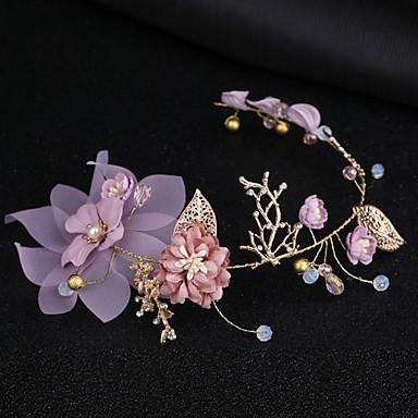 olcso Hajékszerek-Női Virágos Keresztpánt Anyag Ötvözet,Egyszerű Koreai-Kristály / Fejpántok