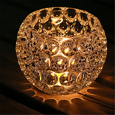 الحديثة / المعاصرة زجاج Candle Holders الشمعدانات 1PC, شمعة / حامل شمعة