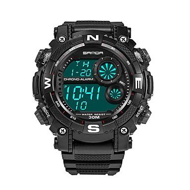 SANDA رجالي ساعة رياضية ساعة رقمية ياباني رقمي أسود 30 m مقاوم للماء رزنامه تصميم جديد رقمي ترف موضة - أحمر أزرق ذهبي / ساعة التوقف / قضية