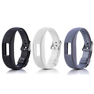 Недорогие Часы и ремешки Garmin-Ремешок для часов для Vivofit 4 Garmin Спортивный ремешок силиконовый Повязка на запястье