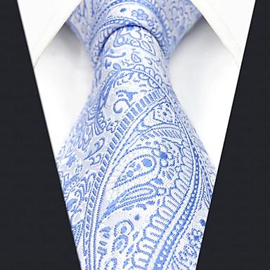 Muškarci Paisley uzorak / Žakard Blue & White Posao / Osnovni Kravata