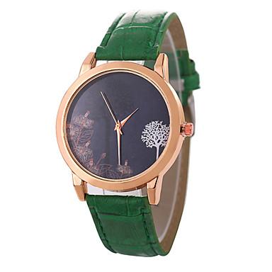 نسائي ساعة المعصم كوارتز جلد اصطناعي أسود / الأبيض / أزرق ساعة كاجوال محبوب مماثل سيدات موضة غني بالألوان - بني أحمر أخضر