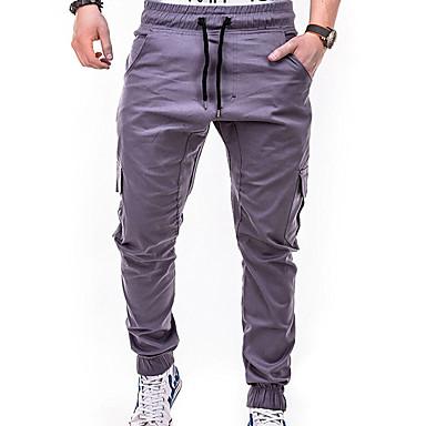 Bărbați De Bază / Șic Stradă Mărime Plus Size Zilnic Sfârșit de săptămână Zvelt Pantaloni Chinos / Pantaloni de marfă Pantaloni - Mată Bleumarin Gri Kaki XXL XXXL XXXXL
