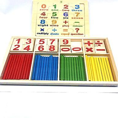 olcso Kid tabletta-Játékos olvasás Brojke Iskola Fa / Bambusz Gyermek Fiú Lány Játékok Ajándék 2 pcs