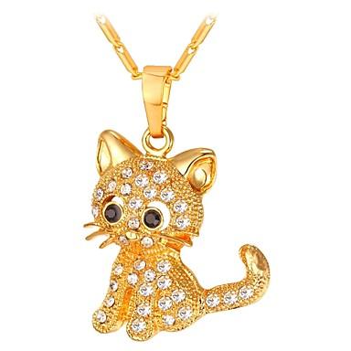povoljno Modne ogrlice-Žene Ogrlice s privjeskom Long asfaltirati Mačka dame Moda Kamen Zlato Pink 55 cm Ogrlice Jewelry 1pc Za Dar Dnevno