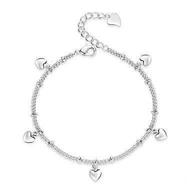 نسائي خلخال ستايل قلب سيدات لطيف خلخال مجوهرات فضي من أجل هدية مناسب للبس اليومي