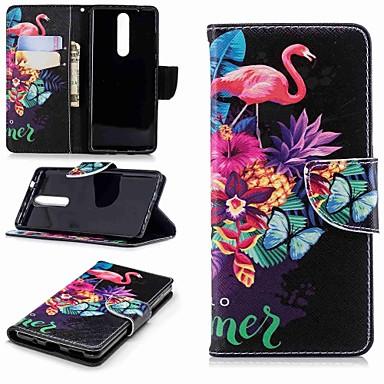 رخيصةأون Nokia أغطية / كفرات-غطاء من أجل نوكيا Nokia 5 / Nokia 3 / Nokia 2.1 محفظة / حامل البطاقات / مع حامل غطاء كامل للجسم البشروس طائر مائي قاسي جلد PU