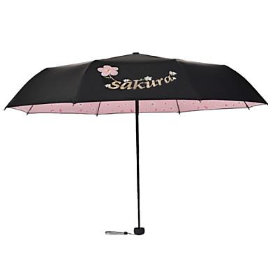 البوليستر / ستانلس ستيل نسائي مشمس وممطر مظلة ملطية
