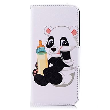 Недорогие Чехлы и кейсы для Galaxy S-Кейс для Назначение SSamsung Galaxy S9 / S9 Plus / S8 Plus Кошелек / Бумажник для карт / со стендом Чехол Панда Твердый Кожа PU