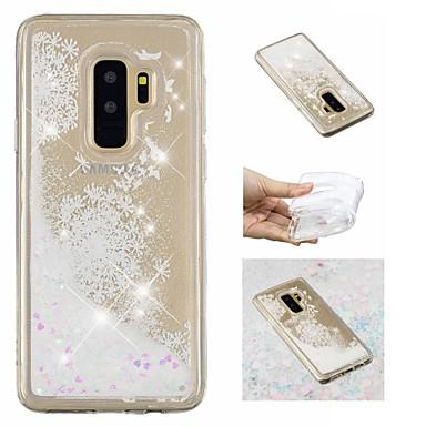Недорогие Чехлы и кейсы для Galaxy S-Кейс для Назначение SSamsung Galaxy S9 / S9 Plus / S8 Plus Движущаяся жидкость / С узором / Сияние и блеск Кейс на заднюю панель Сияние и блеск / одуванчик Мягкий ТПУ